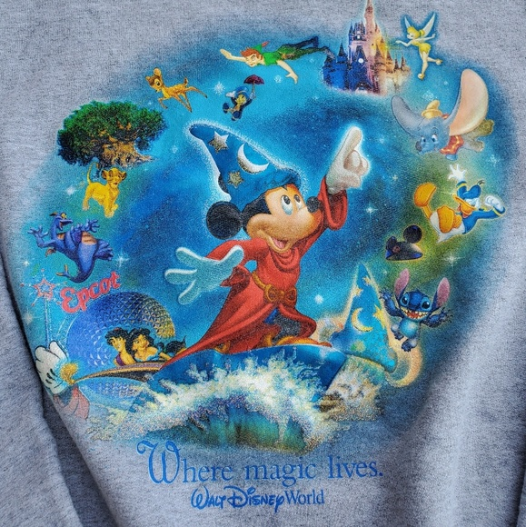 Disney Other - Walt Disney World Sweater Big Graphic Size Large